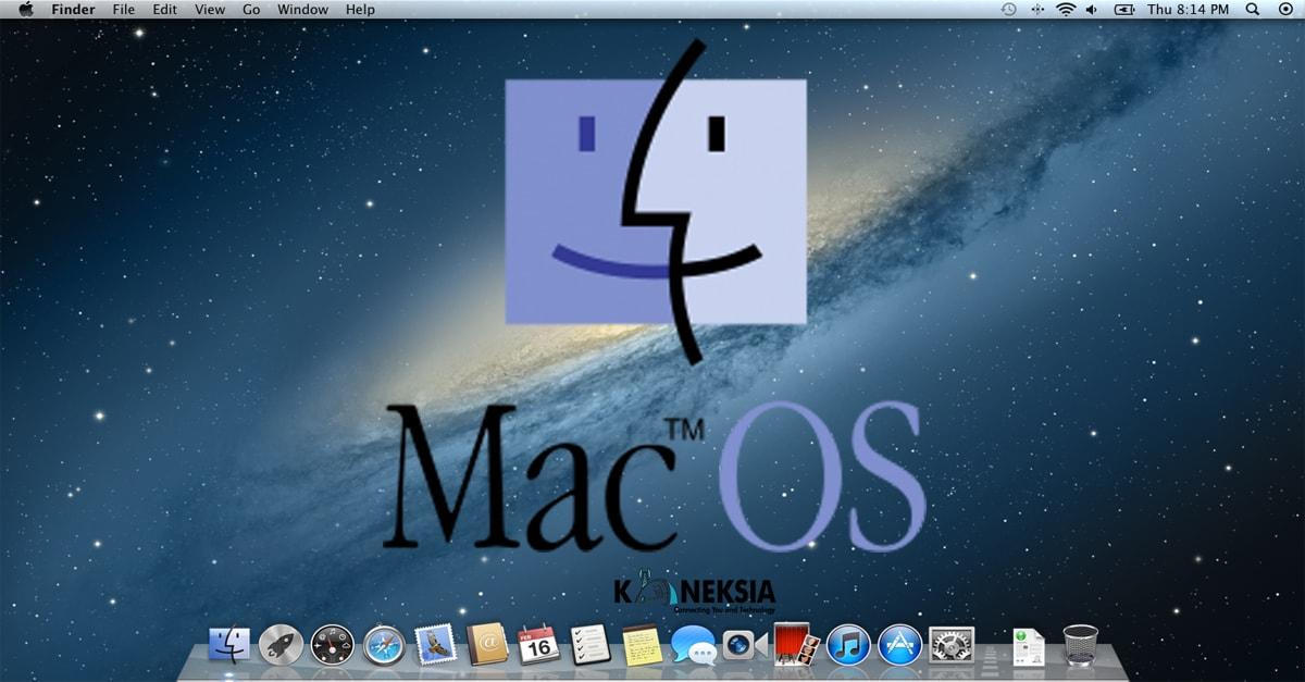 Tampilan Home Screen Sistem Operasi Apple Macintosh