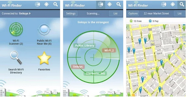 Aplikasi Backpacking WiFi-Finder