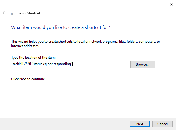 Cara Mangatasi Program Not Responding dengan Taskkill shortcut