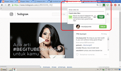 Cara Download Foto Instagram dengan Add Ons