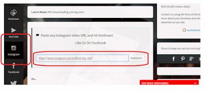 Cara Download Foto Instagram dengan Dredown
